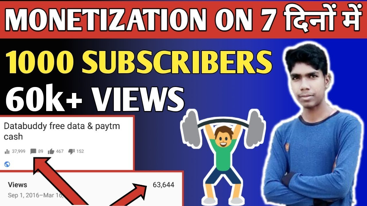 Download thumbnail for HOW TO GET 1000 SUBSCRIBERS AND 4000 HOURS