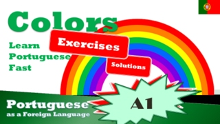 Learn Portuguese Vocabulary | Colors - Exercices #1