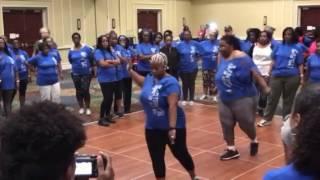 SOSUSnippets: Holding On Line Dance Demo - TNT Saturday Workshop 3/4/17