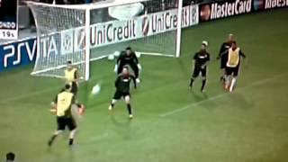 Ibra Crazy Goal in Training al Camp Nou [Waiting Barcellona-Milan] 02-04-2012