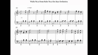 Shostakovich. 2nd.Waltz. Piano Version.
