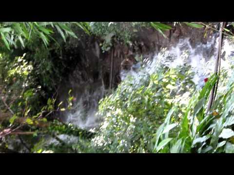 Water falls in Borderland resorts