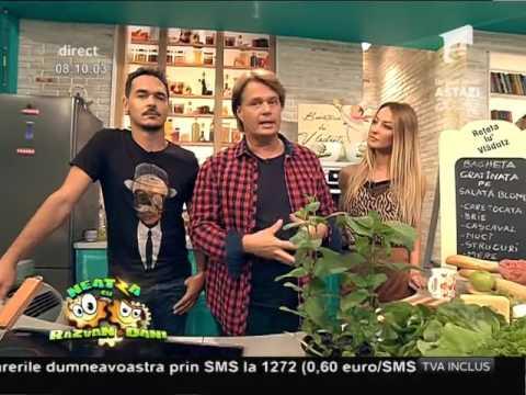 """Reţeta lui Vlăduţ: """"Baghetă gratinată pe salată blondă"""""""