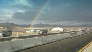 Rainbow from end to end in las vegas