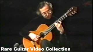 Rare Guitar Video: John Williams plays Danza Paraguay by Agustin Barrios
