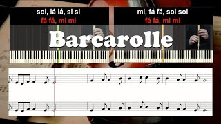 Barcarolle Educação Musical Karaoke das notas para duas flautas