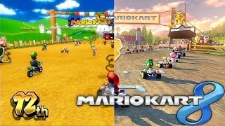 Mario Kart 8 Wii vs Wii U Comparison - Moo Moo Meadows
