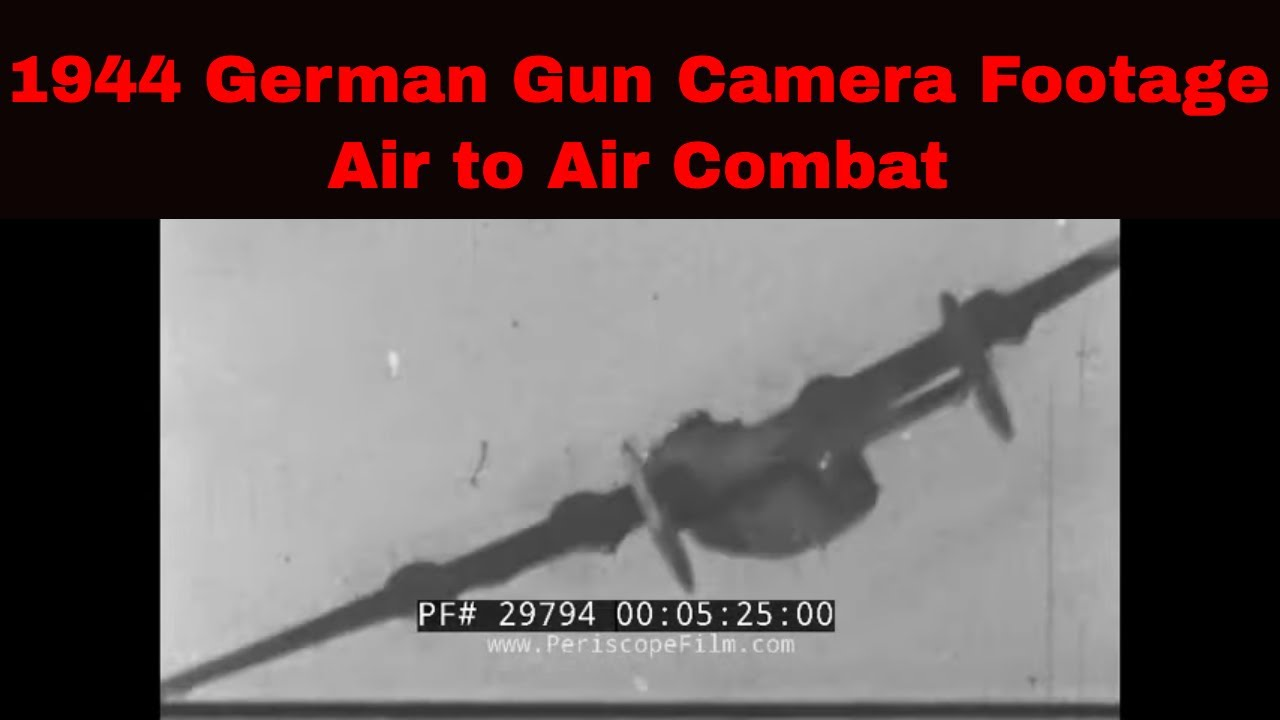 1944 German Gun Camera Films Fw-190 Vs. B-17s, B-24s WW2 - Air Raids Over Germany