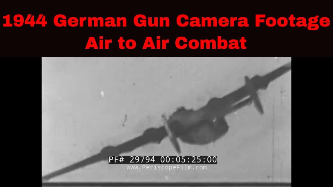 1944 German Gun Camera Films Fw-190 Vs. B-17s, B-24s WW2 - Air Raids Over Germany