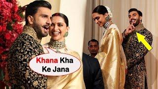 Ranveer Singh's Cute Gesture Towards Media, Deepika Padukone Can't Stop Smiling At Wedding Reception