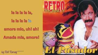 El Pasador   Amada mia, amore mio Instrumental with Melody