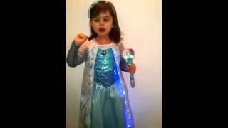 Mini Elsa Star - my little niece singing let it go :)
