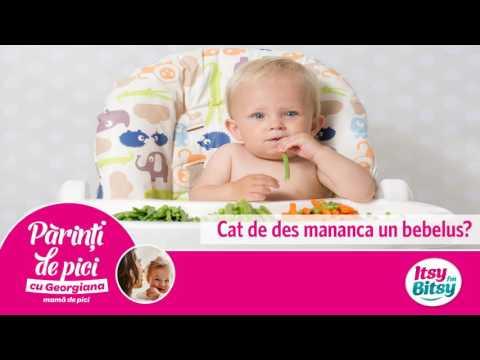 Cat de des mananca un bebelus?