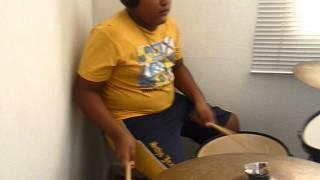 niño de 13 años- sin tu amor - airbag - cover drum - prodigio barranquillero