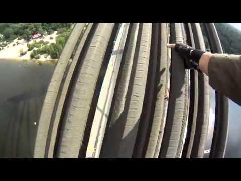 Поднятие на Московский мост и обзор Киева