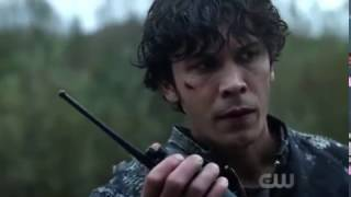 "Bellarke: ""Clarke come in"" + Bell thought Clarke is dead + Bellamy's Shaking Hands (The 100: 04x06)"