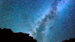 Starry night sky with moving stars hd720