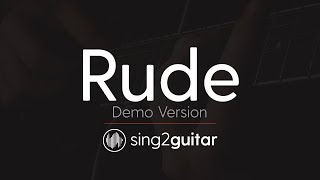 RUDE (Acoustic Guitar Karaoke Demo) MAGIC!