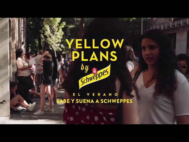 Pol Granch en Yellow Plans by Schweppes