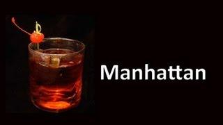 Manhattan Cocktail Drink Recipe HD