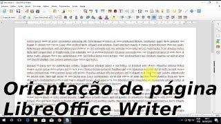 Como virar a página no LibreOffice - Mudar orientação de página