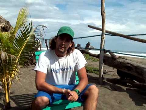 Nicaragua surf camps testimonial video on Big Foot Surf Camp by NicaEco.com