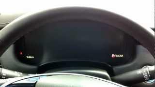 Cadillac XTS instrument display changes demo
