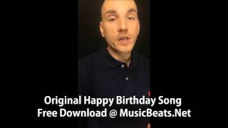 Original Happy Birthday Song Free Download MP3