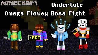 A Living Nightmare l Minecraft Omega Flowey Boss Fight