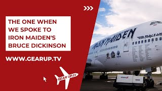 Iron Maiden inside Ed Force 1 - Bruce Dickinson takes delivery of the new Boeing 747-400