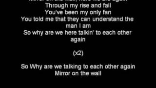 Mirror-Lil Wayne ft. Bruno Mars lyrics on screen