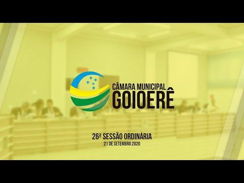 Vídeo na íntegra da Sessão Ordinária da Câmara Municipal de Goioerê dessa segunda-feira, 21