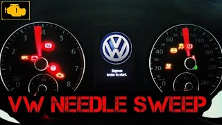 How to activate VW needle sweep VCDS,Indicator celebration,gauge test, test zegarow Vw
