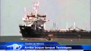 Salina Cruz, Oaxaca.- Arriba buque tanque Texistepec Tercero de cuatro comprados por Pemex