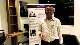 Mr Rajababu of BHEL sees 3D demonstration and feels great