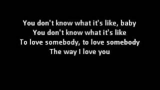 To Love Somebody Lyrics - Bee Gees