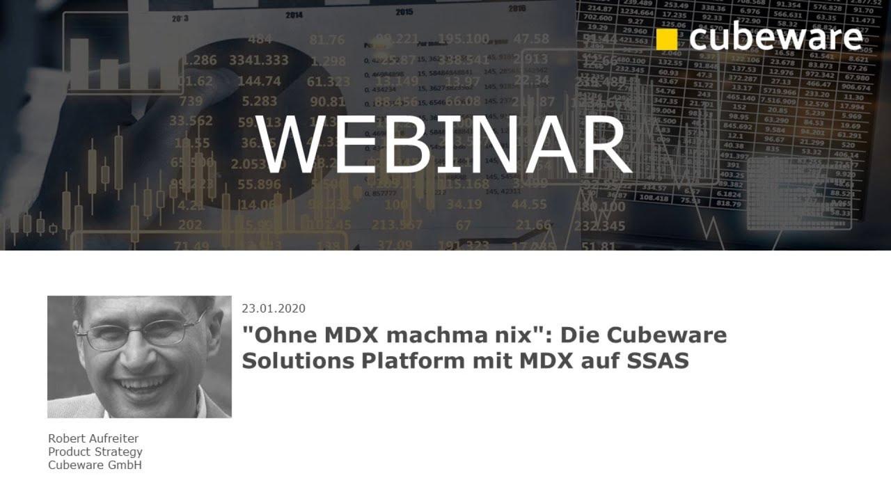 """""""Ohne MDX machma nix"""": Die Cubeware Solutions Platform mit MDX auf SSAS"""