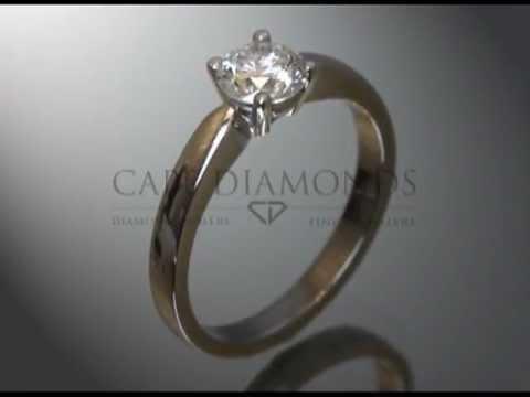 Solitaire ring,round diamond,platinum,engagement ring