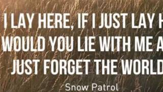 Snow Patrol- Chasing cars (If I lay here) cover