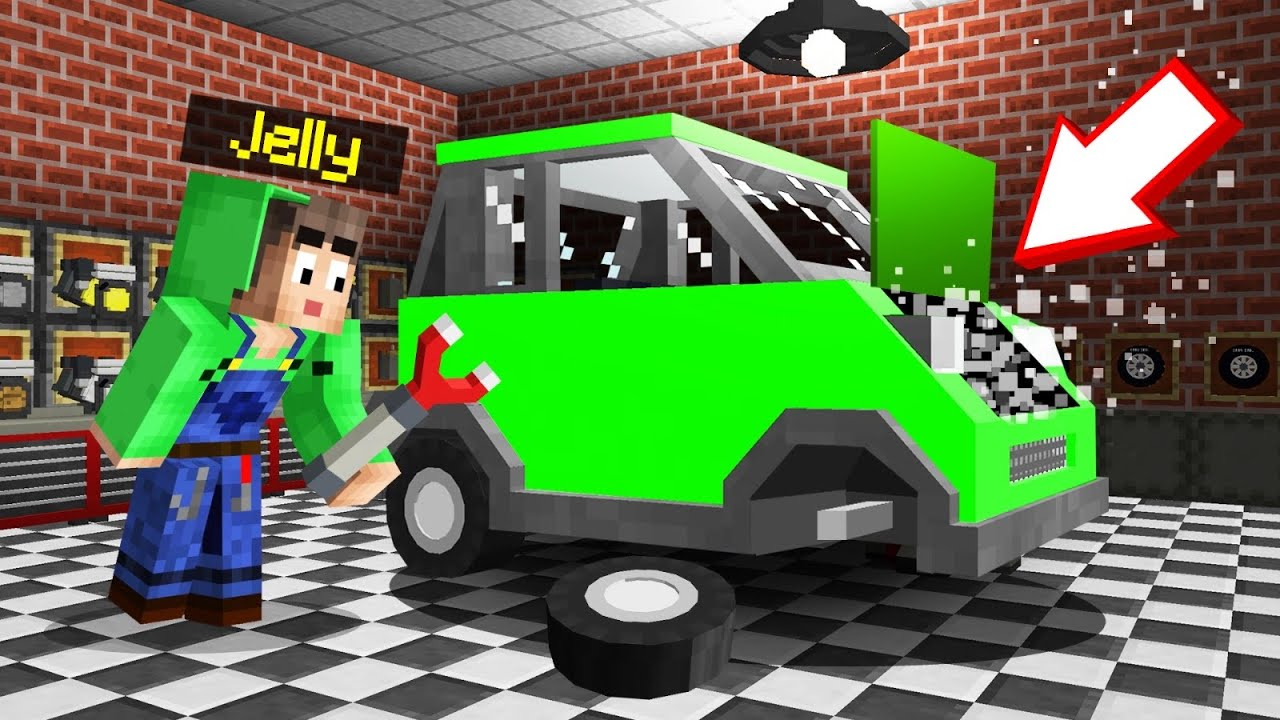 Jelly - I Opened A CAR MECHANIC SHOP In MINECRAFT!