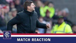 REACTION | Steven Gerrard | Hearts 1-2 Rangers