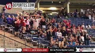 Festejo de gol sin Porra Sector Latino Chicago Fire 1- 1 New England Revolution