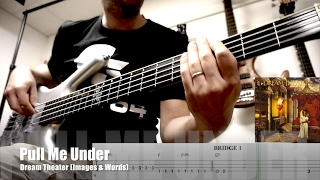 Dream Theater - Pull Me Under - bass unisono with guitar (+ TAB)