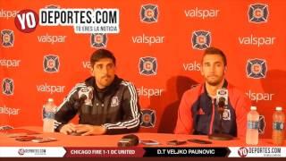 Veljko Paunovic Jonathan Campbell Chicago Fire vs United 1-1