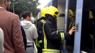 Fire on Train to London (Sidcup to London Bridge) (raw) - Video 5 of 6