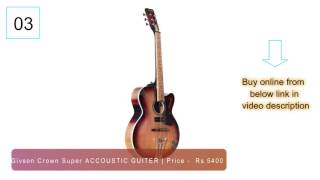 10 Best acoustic guitar for beginners in India 2017 | must see before you buy