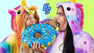 9 DIY Good Unicorn Candy vs Bad Unicorn Candy / Giant Candy And Miniature Candy