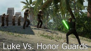 HONOR GUARDS VS. LUKE SKYWALKER: 6 Vs. 1 - Star Wars Battlefront