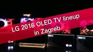LG 2016 OLED TV lineup in Zagreb