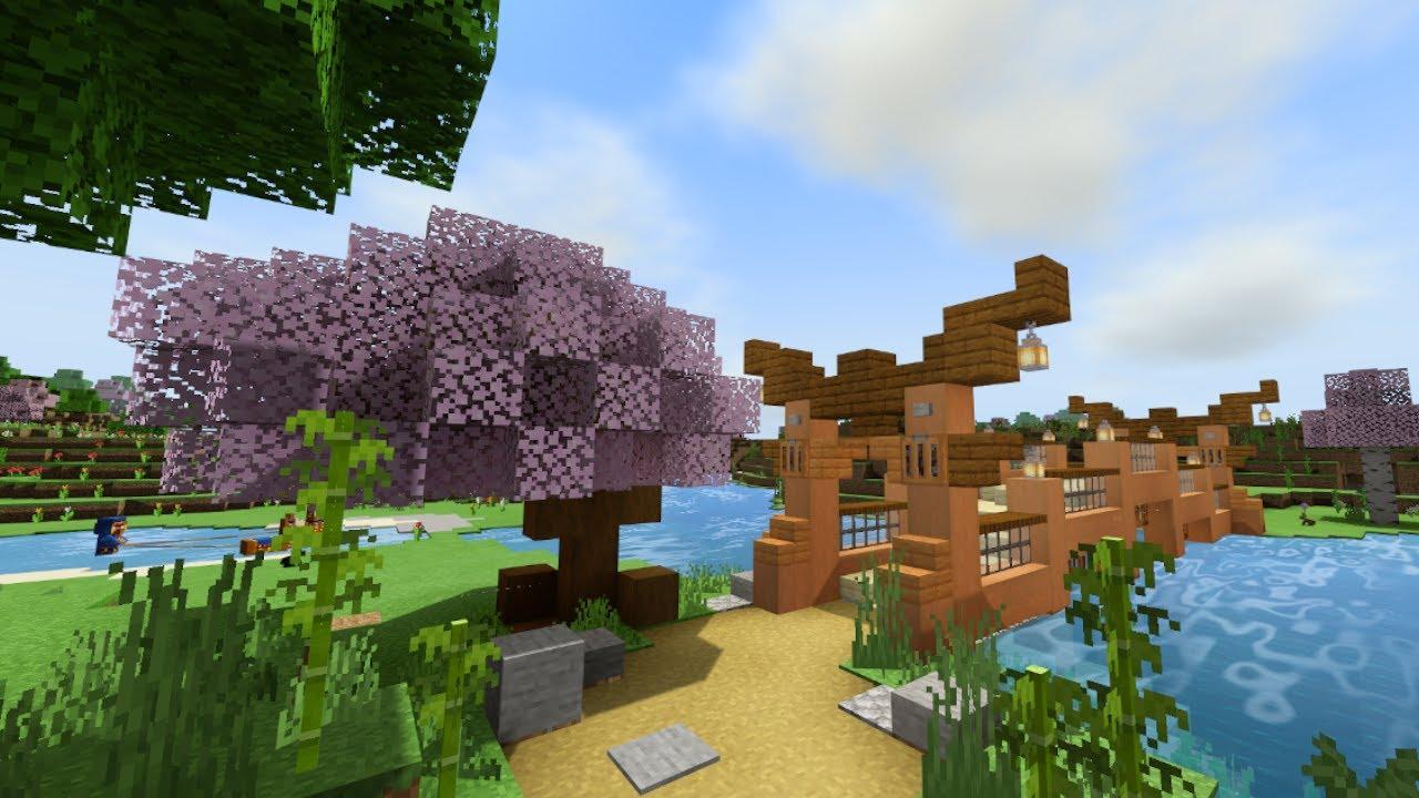 DaphneElaine - Minecraft: Japanese Bridge Build! - Survival Let's Play - Ep. 107